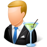 96x96px size png icon of Occupations Bartender Male Light