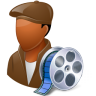 96x96px size png icon of Occupations Film Maker Male Dark