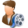 96x96px size png icon of Occupations Film Maker Male Light