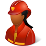 96x96px size png icon of Occupations Firefighter Female Dark