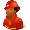 96x96px size png icon of Occupations Firefighter Male Dark