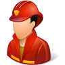 96x96px size png icon of Occupations Firefighter Male Light
