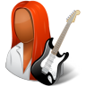 96x96px size png icon of Occupations Guitarist Female Dark