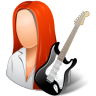 96x96px size png icon of Occupations Guitarist Female Light