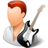 96x96px size png icon of Occupations Guitarist Male Light