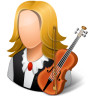 96x96px size png icon of Occupations Musician Female Light