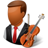 96x96px size png icon of Occupations Musician Male Dark