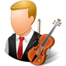 96x96px size png icon of Occupations Musician Male Light