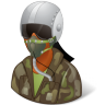 96x96px size png icon of Occupations Pilot Military Female Dark
