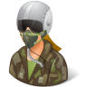 96x96px size png icon of Occupations Pilot Military Female Light
