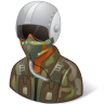 96x96px size png icon of Occupations Pilot Military Male Dark