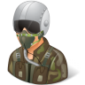 96x96px size png icon of Occupations Pilot Military Male Light