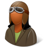 96x96px size png icon of Occupations Pilot OldFashioned Female Dark