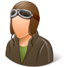 96x96px size png icon of Occupations Pilot OldFashioned Male Light