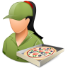 96x96px size png icon of Occupations Pizza Deliveryman Female Light