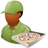 96x96px size png icon of Occupations Pizza Deliveryman Male Dark
