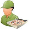 96x96px size png icon of Occupations Pizza Deliveryman Male Light