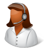 96x96px size png icon of Occupations Technical Support Representative Female Dark