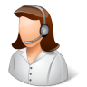 96x96px size png icon of Occupations Technical Support Representative Female Light
