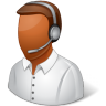 96x96px size png icon of Occupations Technical Support Representative Male Dark