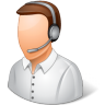 96x96px size png icon of Occupations Technical Support Representative Male Light