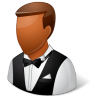 96x96px size png icon of Occupations Waiter Male Dark