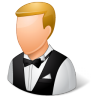 96x96px size png icon of Occupations Waiter Male Light