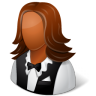 96x96px size png icon of Occupations Waitress Female Dark