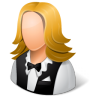 96x96px size png icon of Occupations Waitress Female Light
