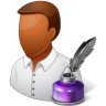 96x96px size png icon of Occupations Writer Male Dark