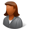 96x96px size png icon of Office Client Female Dark