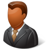 96x96px size png icon of Office Client Male Dark