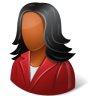 96x96px size png icon of Office Customer Female Dark