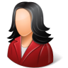 96x96px size png icon of Office Customer Female Light