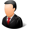 96x96px size png icon of Office Customer Male Light