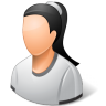 96x96px size png icon of Person Female Light