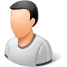 96x96px size png icon of Person Male Light