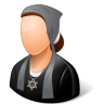 96x96px size png icon of Religions Jew Female