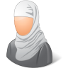 96x96px size png icon of Religions Muslim Female