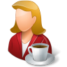 96x96px size png icon of Rest Person Coffee Break Female Light