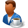 96x96px size png icon of Rest Person Coffee Break Male Dark