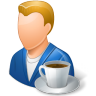 96x96px size png icon of Rest Person Coffee Break Male Light