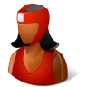 96x96px size png icon of Sport Boxer Female Dark