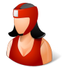 96x96px size png icon of Sport Boxer Female Light