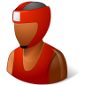 96x96px size png icon of Sport Boxer Male Dark