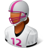 96x96px size png icon of Sport Football Player Female Dark