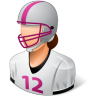 96x96px size png icon of Sport Football Player Female Light