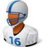 96x96px size png icon of Sport Football Player Male Dark