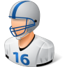 96x96px size png icon of Sport Football Player Male Light