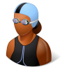 96x96px size png icon of Sport Swimmer Female Dark